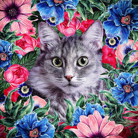 Oksana Ariskina - Cat in Flowers