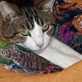 Cat on Cat Quilt by Sally Weigand