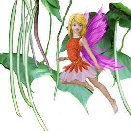 Yuichi Tanabe - Catalpa Tree Fairy among the Seed Pods