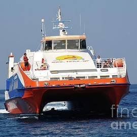 David Fowler - Catamaran ferry at Tilos