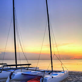 Debra and Dave Vanderlaan - Catamarans in the Morning Light