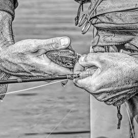 Catch and Release Rainbow Trout Monochrome by Jennie Marie Schell