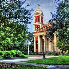 Cathedral From Corner In Mobile Alabama by Michael Thomas
