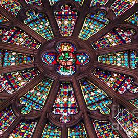 Basilique De St. Nazaire Glass Vision # 3 by Poet's Eye