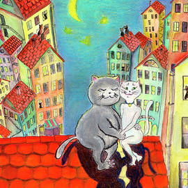 Cats in the night by Ella Boughton
