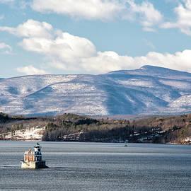 Catskill Mountains With Lighthouse by Nancy De Flon