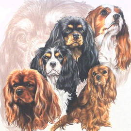Barbara Keith - Cavalier King Charles Spaniel and Ghost