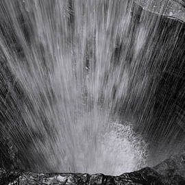 Cavern Cascade - Black and White by Stephen Stookey