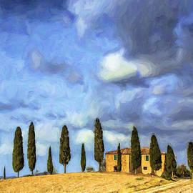 Cedars and Tuscan Villa by Dominic Piperata