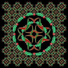 Celtic Christmas Holly Wreath by MM Anderson