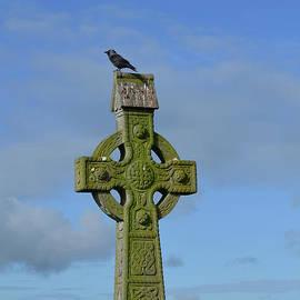 DejaVu Designs - Celtic Cross with a Bird on the Top