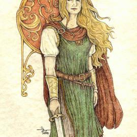 Celtic Shieldmaiden by Sara M Tan