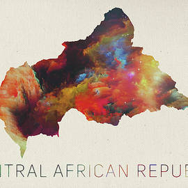 Central African Republic Watercolor Map - Design Turnpike