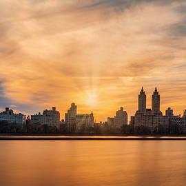 Susan Candelario - Central Park Lake NYC Skyline