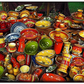 Joan  Minchak - Ceramics at Market Day