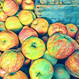 Cezanne on the Hudson - Apples at the Farmers Market by Miriam Danar
