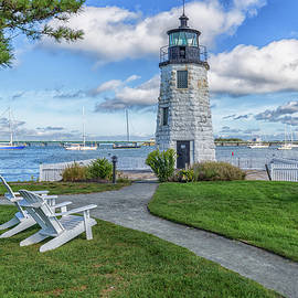 Brian MacLean - Chairs At Newport Harbor Lighthouse