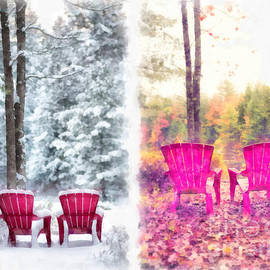 Changing Seasons Anderson Pond Eastman Grantham New Hampshire - Edward Fielding