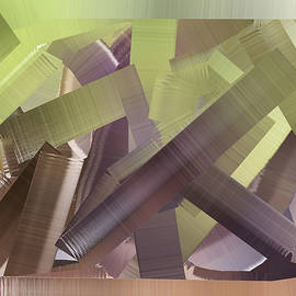 Kathy K McClellan - Chaos In The Library Abstract