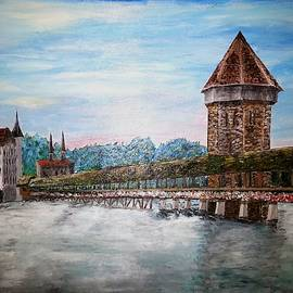 Chapel Bridge Lucerne Switzerland by Irving Starr