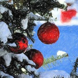 Charcoal Ornaments by Donna Cavanaugh