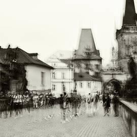 Jenny Rainbow - Charles Bridge. Black and White. Impressionism