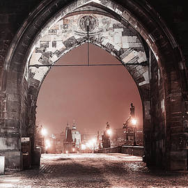 Jenny Rainbow - Charles Bridge in Winter. Prague