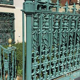 Charleston Aqua Turquoise Rod Iron Gate John Rutledge House - Charleston Historical Architecture - Kathy Fornal