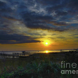 Charleston Harbor Jeweled Sunset by Norma Brandsberg