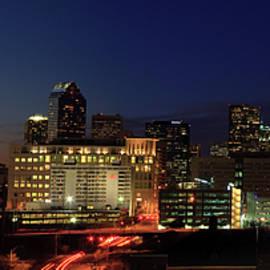 Charlotte At Night Panorama by Jill Lang