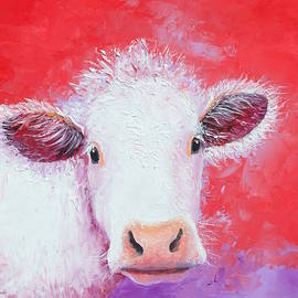 Charolais Cow painting by Jan Matson