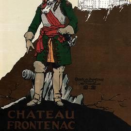 Chateau Frontenac Luxury Hotel in Quebec, Canada - Vintage Travel Advertising Poster 02 - Studio Grafiikka