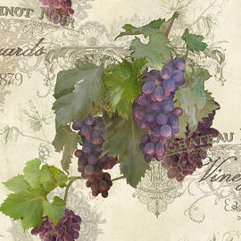 Chateau Pinot Noir Vineyards - Vintage Style by Audrey Jeanne Roberts