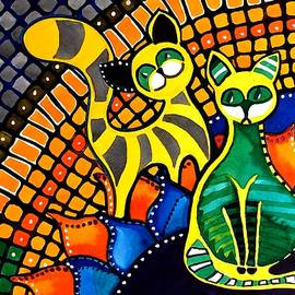 Cheer Up My Friend - Cat Art by Dora Hathazi Mendes by Dora Hathazi Mendes