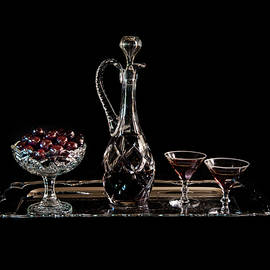 Cherries In An Old Fashion Way In Black - A Still Life by Torbjorn Swenelius
