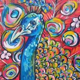 Cherry Blossom Peacock by Arrin Freeman