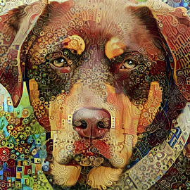 Chester the Abstract Mutt  by Peggy Collins