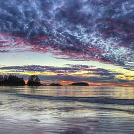 Chesterman Beach Sunset Panorama by Mark Kiver