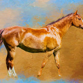Ericamaxine Price - Chestnut Filly - Painting