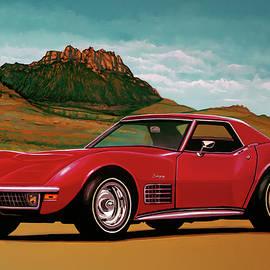 Chevrolet Corvette Stingray 1971 Mixed Media by Paul Meijering