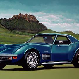 Paul Meijering - Chevrolet Corvette Stingray 1971 Painting