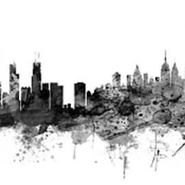 Chicago and New York City Skylines Mashup - Michael Tompsett