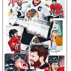 Chicago Blackhawks 2013 Faces of Victory by Jerry Tibstra