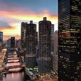 Raf Winterpacht - Chicago City Sunset