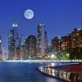 Chicago Cubs Blue  Moon by Frozen in Time Fine Art Photography