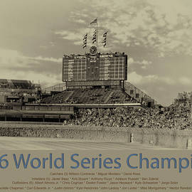 Thomas Woolworth - Chicago Cubs World Series Scoreboard In Heirloom