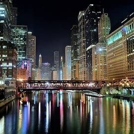 Chicago Lights Shimmer by Frozen in Time Fine Art Photography