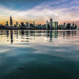 Sven Brogren - Chicago Skyline and fish at dusk
