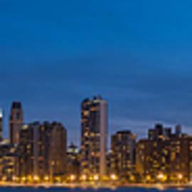 Steve Gadomski - Chicago Skyline From North Ave Beach Panorama