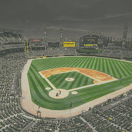 Chicago White Sox Us Cellular Field Creative 4 Black And White by David Haskett II